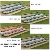 15' Bleachers Standard Series 3 Row Preferred With Color  *