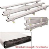 15' Bleachers Tip N' Roll 4 Row With Color  *