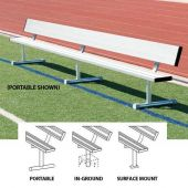 15' Players Bench Aluminum With Backrest - Portable Design