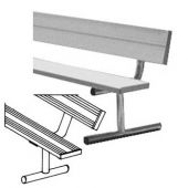 7.5' Players Bench Aluminum With Backrest Portable