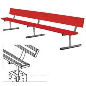 7.5' Players Bench Powder Coated With Backrest Permanent Mount With Color  *