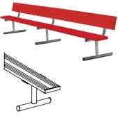 7.5' Players Bench Powder Coated With Backrest Portable With Color