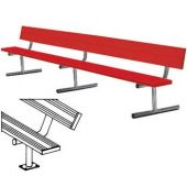 7.5' Players Bench Powder Coated With Backrest Surface Mount With Color  *