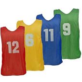 Adult Numbered Practice Vest 1 through 12 Pinnies Choose A Color