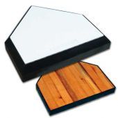 Baseball Home Plate - In-Ground Home Plate with Solid Wood Bottom