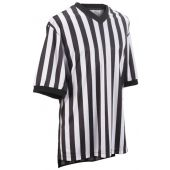 Basketball Ref Uniforms - Smitty Official Mens Short Sleeve Shirt Smooth Performance Interlocking Weave Black/White
