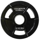 Champion Olympic Rubber Coated Grip Plate - 2.5lb