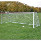 Classic Official Square Soccer Goal Package 24'W x 8'H x 4'B x 10'D - WHITE - PAIR