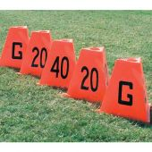 Fooball Field Sideline Markers Poly Flag Football Sideline Markers