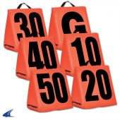 Football Field Equipment - Solid Weighted Football Yard Markers