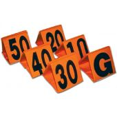 Football Field Equipment - Weighted Football Yard Markers