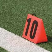 Football Field Markers - Solid Sideline Markers 5Pc Set
