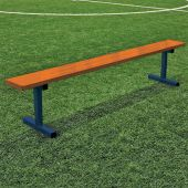 Player Bench - 7-1/2' - In-Ground - Powder Coated
