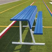 Player Bench with Seat Back and Shelf - 7-1/2' - Portable - Powder Coated