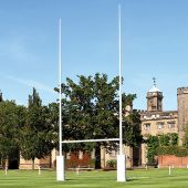 """Rugby Goals (32'H (9.8m) x 18'4""""W (5.6m)) (Permanent) - (White) (Pair)"""