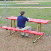 Scorer Table (Outdoor) with Bench - 7-1/2' - Portable - Powder Coated