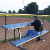Scorer Table (Outdoor) with Bench - 7-1/2' - Portable