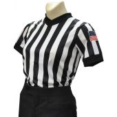 Smitty Made in USA - BODY FLEX Women's Referee Basketball V-Neck Shirt - With USA Flag