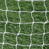 "Soccer Goal Replacement Nets (4-3/4"" Sq. - 4mm Braided Mesh) (8'H x 24'W x  6 1/2'B x 7 1/2'D) (White) (Pair)"