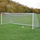 Soccer Goals - Classic Official Round Goal Deluxe Package (8'H x 24'W x 4'B x 10'D) - NFHS, NCAA, FIFA Compliant