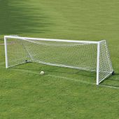 Soccer Goals - Classic Official Square Goal Deluxe Package (8'H x 24'W x 4'B x 10'D) - NFHS, NCAA, FIFA Compliant