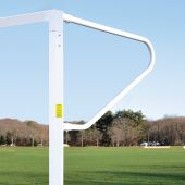 Soccer Goals - Classic Official Square with European Backstays (8'H x 24'W x 4'B x 10'D) - NFHS, NCAA, FIFA Compliant (Pair)