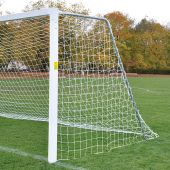 Soccer Goals - Classic Official Square with Standard Backstays (8'H x 24'W x 4'B x 10'D) - NFHS, NCAA, FIFA Compliant (Pair)