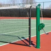 "Tennis Replacement Net (1-7/8"" Sq. - 3mm Polyethylene Knotted Mesh) (Indoor) - Tennis Net (42'L x 42""H) (Black)"