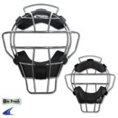 Umpire Mask - Silver Frame Light weight - 23 oz By Champro