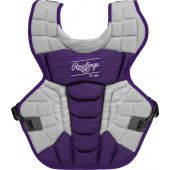 Velo 2.0 15.5 in Chest Protector (NOCSAE Approved) - PURPLE/WHITE
