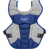 Velo 2.0 15.5 in Chest Protector (NOCSAE Approved) - ROYAL/WHITE