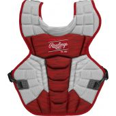 Velo 2.0 15.5 in Chest Protector (NOCSAE Approved) - SCARLET/WHITE