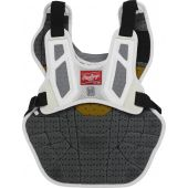 Velo 2.0 15.5 in Chest Protector (NOCSAE Approved) - White/Silver