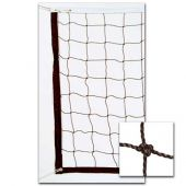 Volleyball Nets 2.5 MM Twisted PE 32'; Collegiate Net, Steel Cable Top