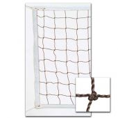 """Volleyball Nets 3.0 MM Braided PE 32'; """"POWER"""" Net, Steel Cable Top & Bottom"""