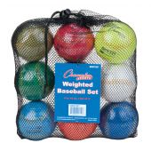 Weighted Training Baseball Set Weighted from 4-12 oz. Set of 9 ball