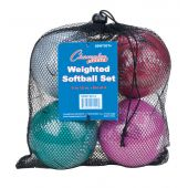 Weighted Training Softball Set Weighted from 9-12 oz. Set of 4 balls