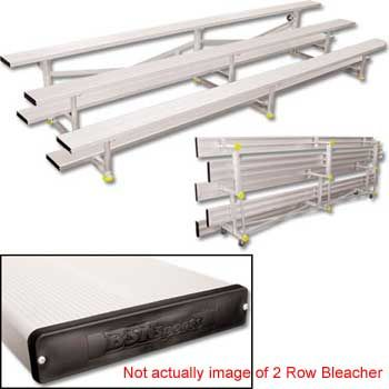 15' Bleachers Tip N' Roll 2 Row With Color