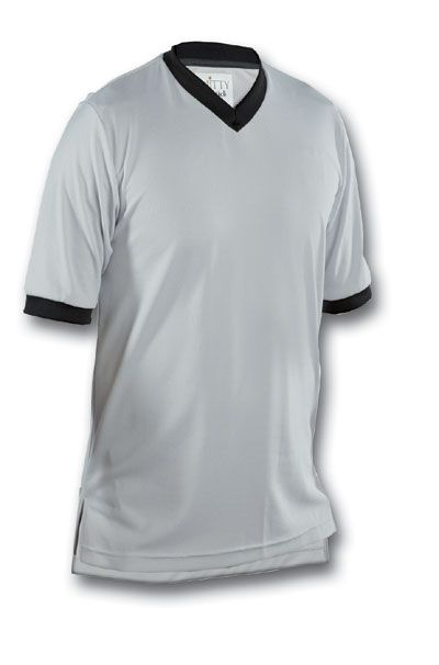 Basketball Referee Shirts - Smitty Pro League Gray Jersey Gray/Black Made in the USA