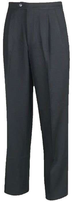 Smitty Basketball Referee Slacks - Womens Black Pleated Officials Pants Black
