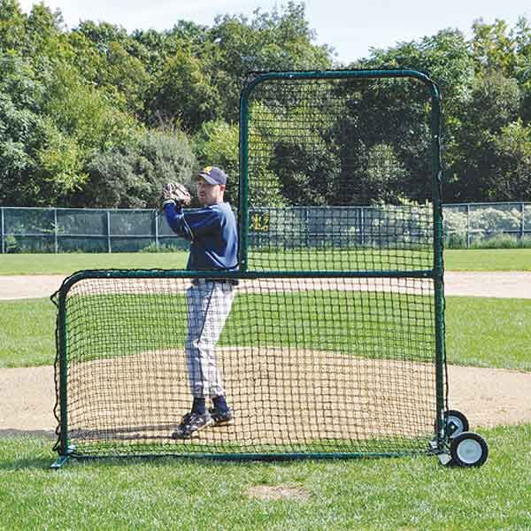 Collegiate Pitcher's Safety Protector L-Screen - GREEN - EACH