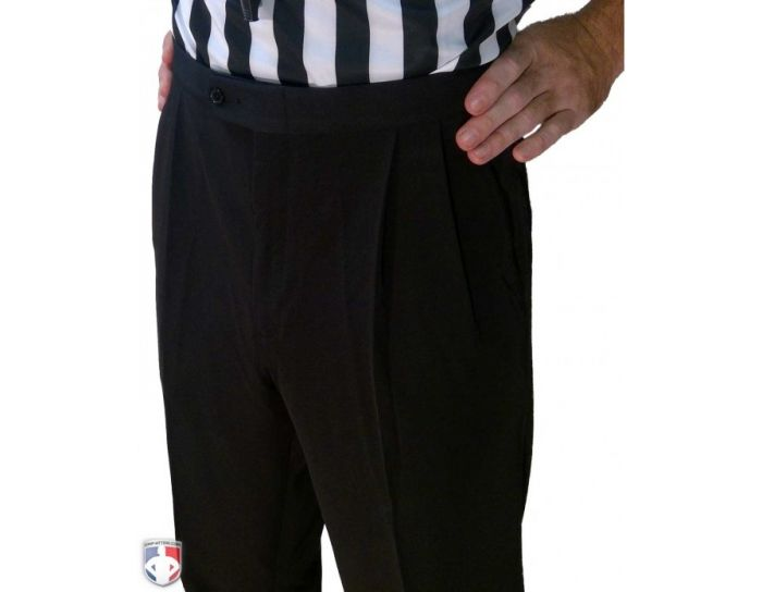 Smitty 4-Way Stretch Women's Basketball Referee Lightweight Pleated Front Pants with Slash Pockets