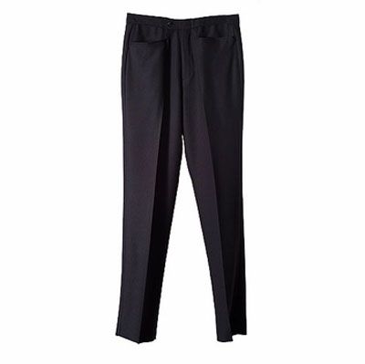 Smitty Basketball Referee Pants - Smitty Black Flat Front with Belt loops Officials Pant Western Pockets Black